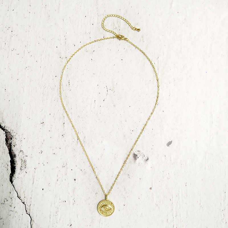 ทองเหรียญจี้สร้อยคอผู้หญิง Simple Choker Boho Charms เริ่มต้นสร้อยคอเครื่องประดับ XL108