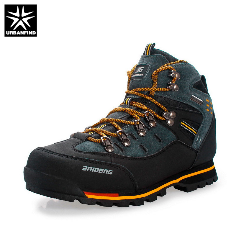 URBANFIND Men Boots Male Rubber Combat Ankle Work Safety Shoes Size 40 46 Autumn Winter Snow