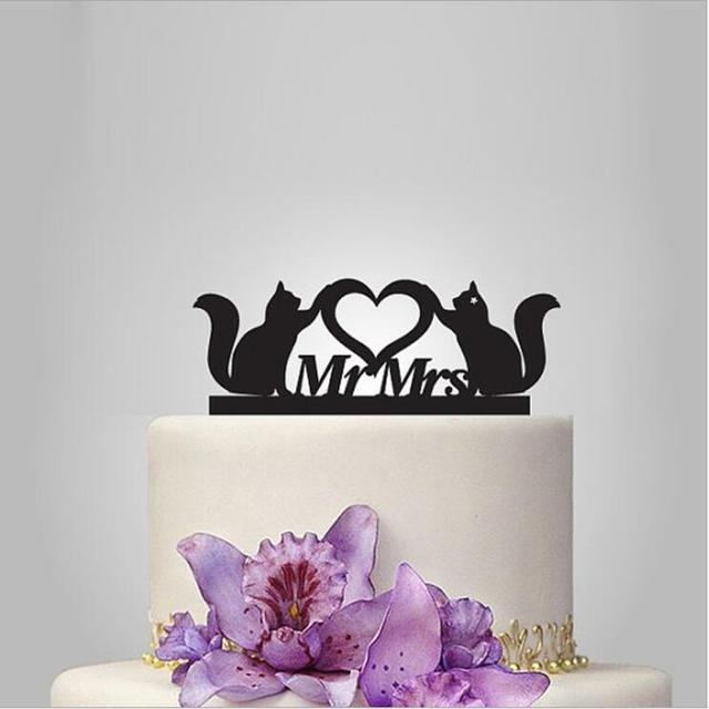 Personalized Wedding Cake Topper Custom Acrylic Cake Toppers Mr And