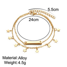 Star, Leaf Charms Women's Anklets