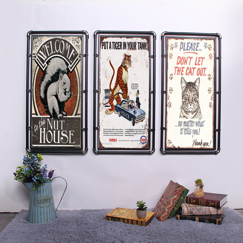 Vintage Metal Plate Bar Wall Decoration Tin Sign Vintage Metal Poster Home Decor Painting Plaques Cat Theme in Plaques Signs from Home Garden