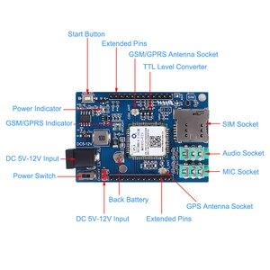 Image 2 - Voor Arduino STM32 GSM GPRS GPS Draadloze Shield Module F21 3 In 1 Module DC 5 12V 51MCU ondersteuning Voice Bericht Beidou Positionering