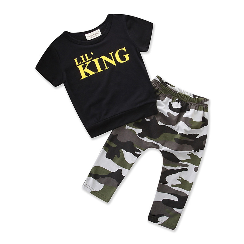 toddler boys clothing set Letter long sleeve T shirt Tops+Camouflage Pants Autumn Winter Children Kids Outfits Clothes Sets 4