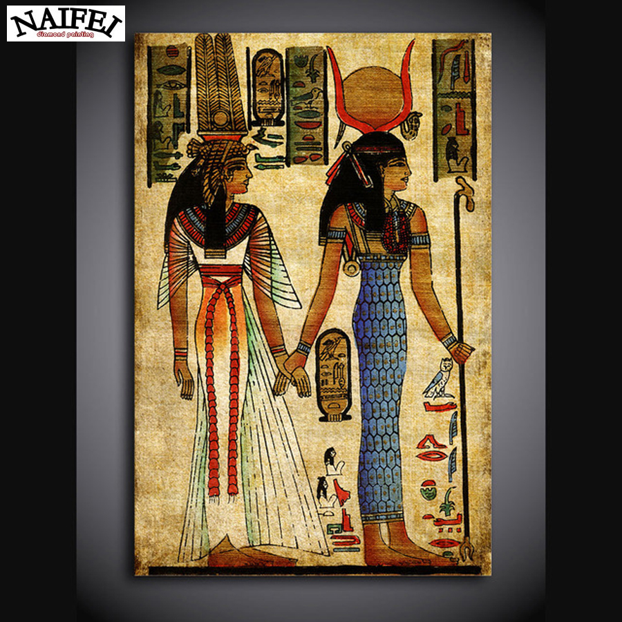 Voll, Diamant Stickerei Königin von Ägypten, 5D Diamant Malerei ...