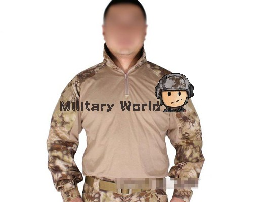 ФОТО Emerson G3 Combat Airsoft Military Tactical Outdoor Combat Long Sleeve T-Shirt Hiding Camouflage Digital Jungle Shirts HLD