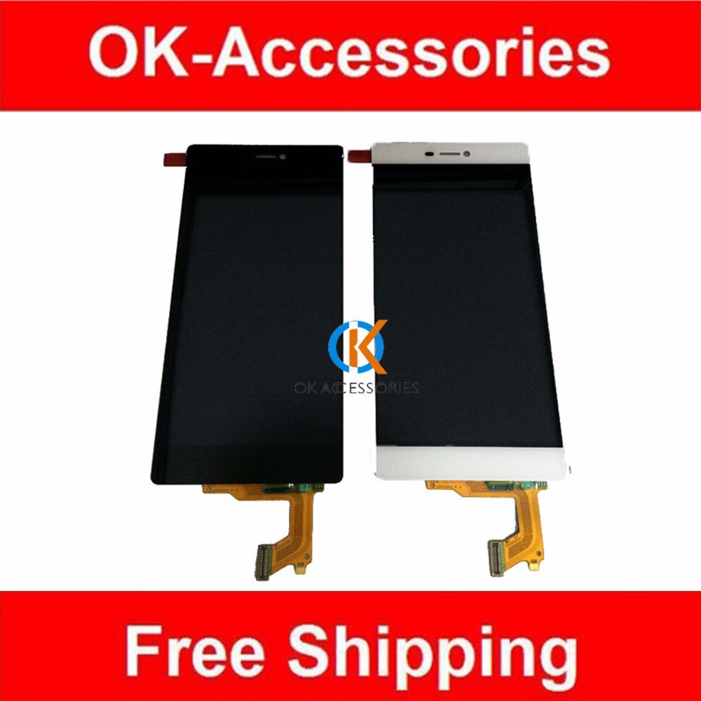 Black White Color 10PCS/Lot For Huawei Ascend P8 LCD Display+Touch Screen Digitizer Assembly Free DHL EMS replacement original touch screen lcd display assembly framefor huawei ascend p7 freeshipping