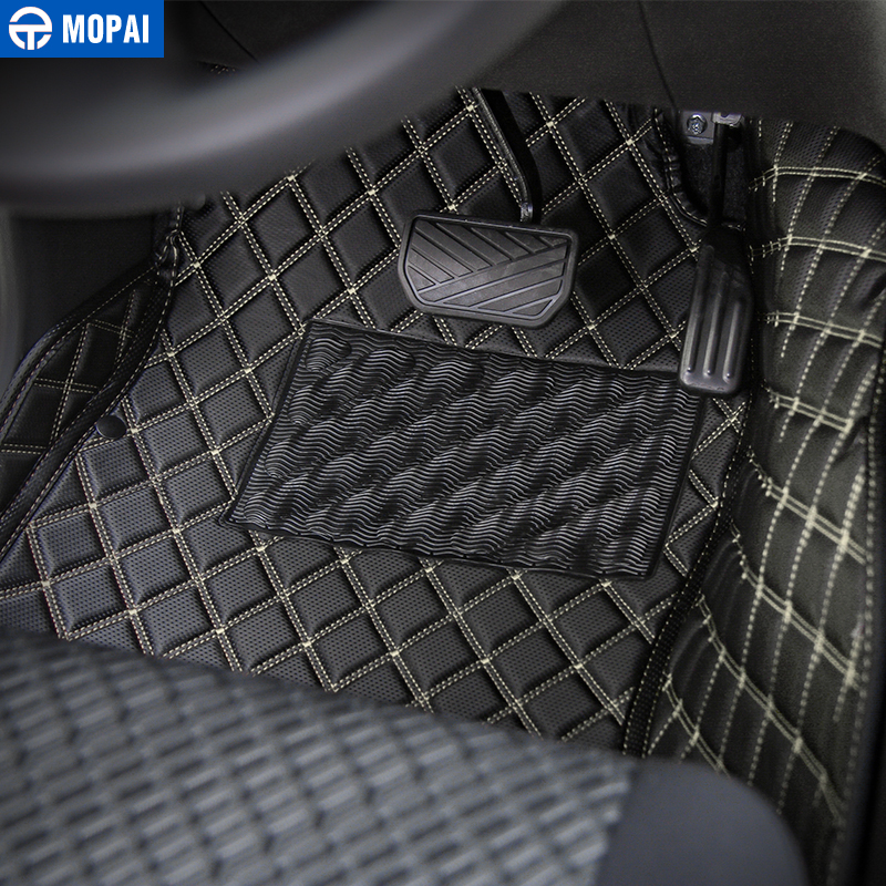 Image 2 - MOPAI Leather Car Interior Floor Foot Mats Carpets Foot Pads for Suzuki Jimny 2007 2017 Car Accessories-in Interior Mouldings from Automobiles & Motorcycles