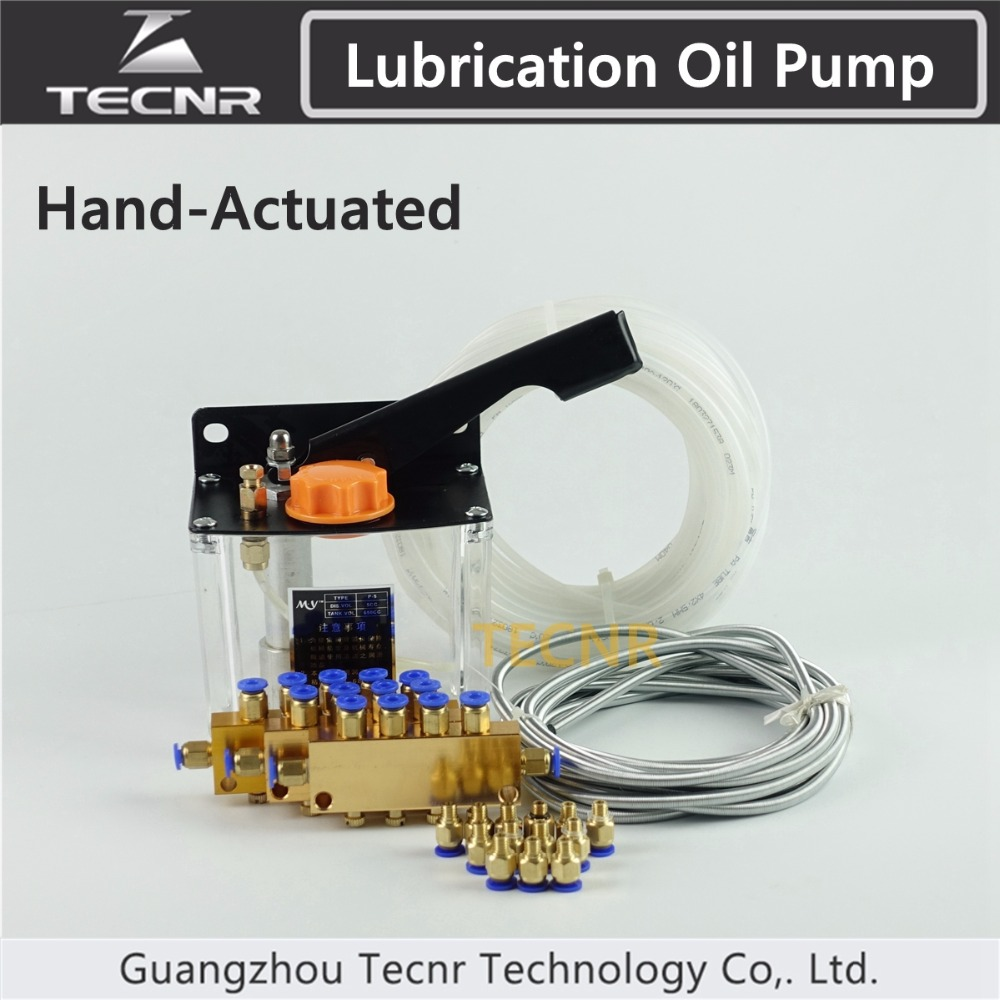 TECNR CNC Manual Oil Pump for CNC Machine Oil Lubrication pump system rary pубашка