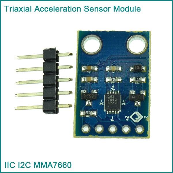 IIC I2C MMA7660 Triaxial Acceleration font b Sensor b font Module For font b Arduino b