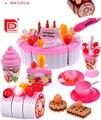 Crianças Jogo de Cozinha Brinquedos 73 pçs/set Pretend Play Girs acessórios de Cozinha Conjunto de Cozinha Bolo de Aniversário Brinquedos de Frutas De Brinquedo
