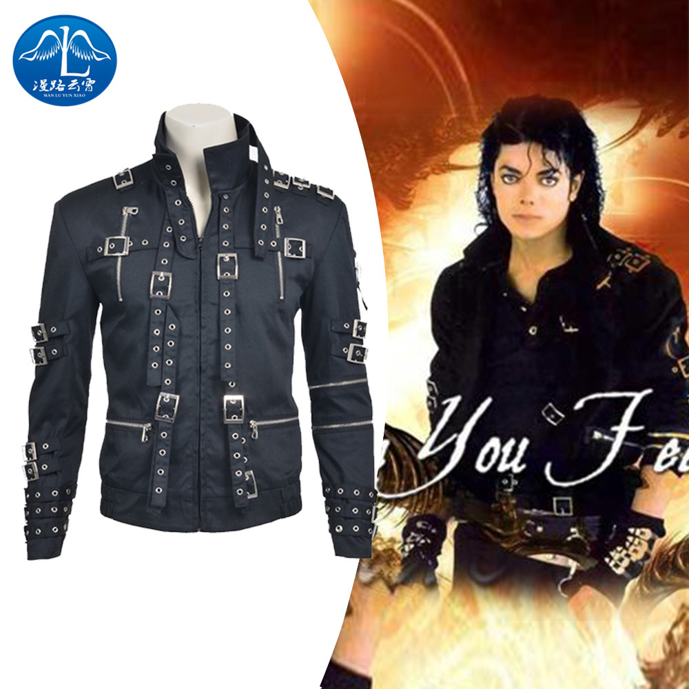 ManLuYunXiao Cosplay Costume Michael Jackson Jacket  Michael Jackson Cosplay Costume Men's Jacket Custom Made Free Shipping