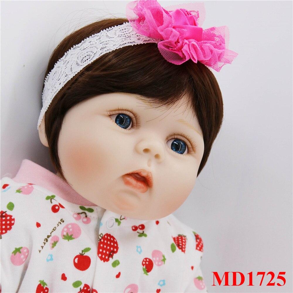 56 cm corps complet silicone bebes fille poupées mignon cheveux courts réel doux toucher vivant reborn bébé jouets pour enfants cadeau d'anniversaire - 3