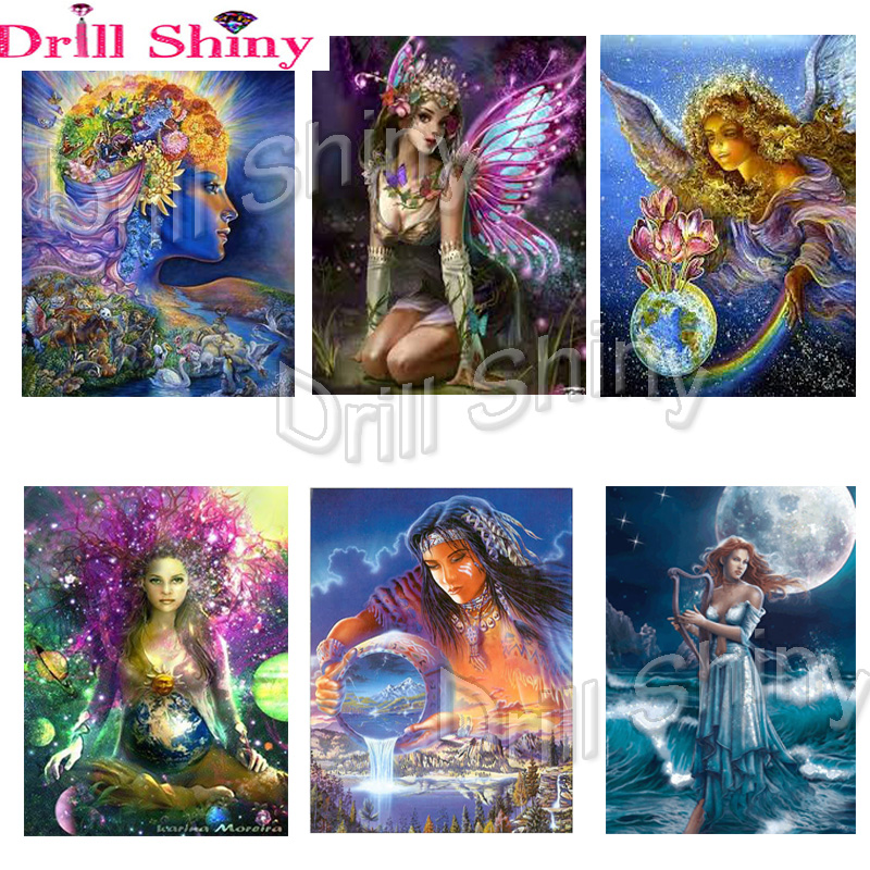 5D DIY Full Drill Square Diamond Painting Beautiful Angel Embroidery Kit N#S7