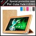 Moda case para cubo especial talk11 u81gt tablet, suporte flip pu leather case para 10.6 polegada cubo talk11 frete grátis com presente