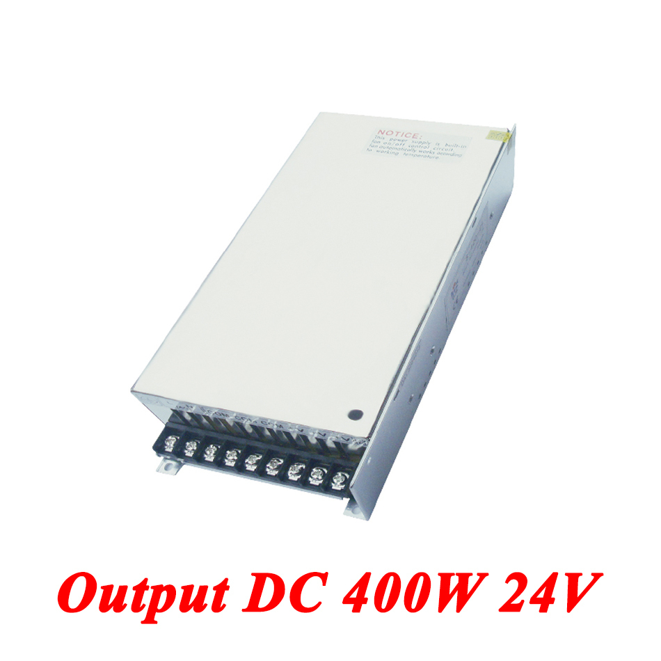S-400-24 400W 24v 16.6A,Single Output smps switching power supply for Led Strip,AC110V/220V Transformer to DC 24V,led driver s 100 12 100w 12v 8 5a single output ac dc switching power supply for led strip ac110v 220v transformer to dc led driver smps