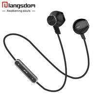 Langsdom Sport Bluetooth Earphone For Phone Metal Wireless Earphones Bluetooth Wilress Headset With Mic Fone De