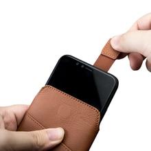 QIALINO Da Bag Trường Hợp đối với iphone XS Sang Trọng Chính Hãng Túi Da Điện Thoại Bìa cho iphone X Wallet Pouch Khe Cắm Thẻ Nhớ cho 5.8 inch