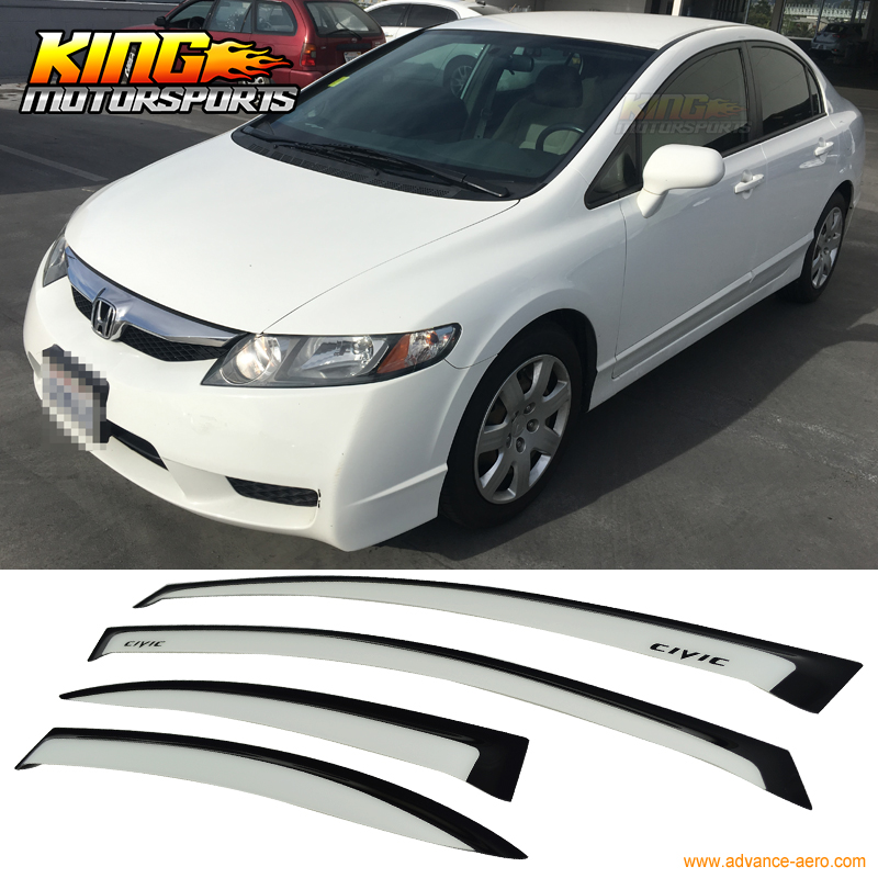 Fits Honda CIvic 4 dr OE Style Painted Spoiler Wing Taffeta White NH-578