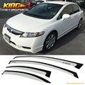 For 06-11 Honda Civic Acura CSX 4Dr Window Visor Guard Deflectors Taffeta White #NH578