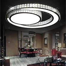 Led acrylic ceiling modern minimalist bedroom lamp creative living room lamps lighting round study Restaurant modern minimalist fashion crystal living room lamp designer luxury atmospheric bedroom study ceiling lamp led lighting fixture