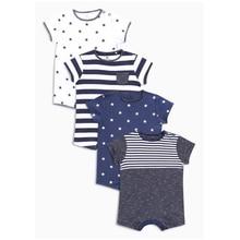Новорожденных мальчиков одежда для маленьких девочек детская одежда 6 9 12 18 24 месяцев комбинезоны для новорожденных Комбинезоны