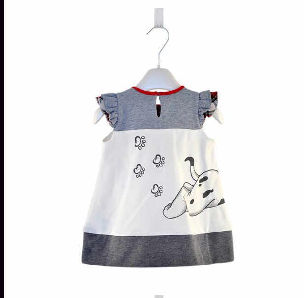 طفل الفتيات الصغار ألف خط فستان الفتيات الاطفال قطعة واحدة فستان الملبس طفل الفتيات فستان الكلب طباعة ملابس لطيف للفتيات