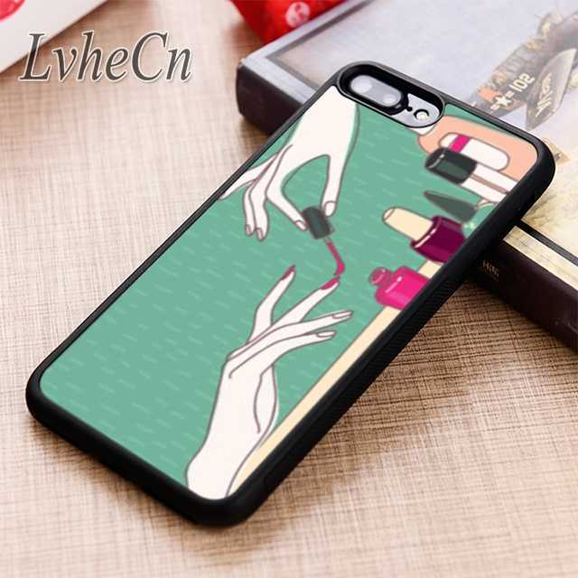 LvheCn Nail Salon Manicure phone Case cover For iPhone 5 6 6s 7 8 plus X XR XS max 11 Pro Samsung Galaxy S7 edge S8 S9 S10