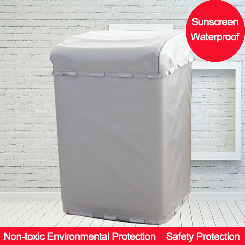 Silver Sunscreen Protective Above Opening Washing Machine Cover For Home With Polyester Silver Coating Dustproof And WaterproofSilver Sunscreen Protective Above Opening Washing Machine Cover For Home With Polyester Silver Coating Dustproof And Waterproof