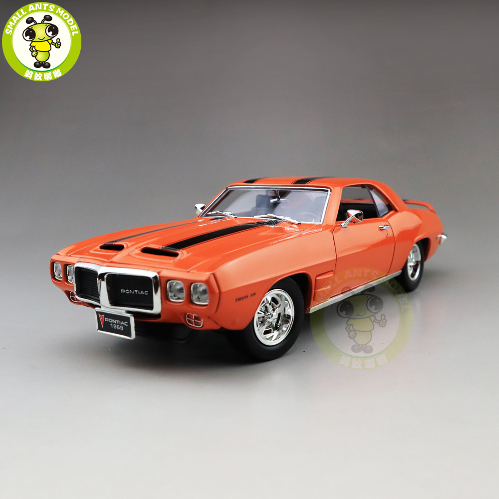 1/18 1969 PONTIAC FIREBIRD TRANS Road Signature Diecast Model Car Toys Boys Girls Gift