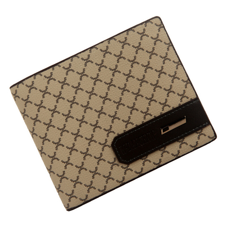 2015 Hot Sale Fashion Boutique New Men Wallets 2 Fold Brown Beige Colors Cross-Section Plaid Card Holder Purse Wallet 057 best price mgehr1212 2 slot cutter external grooving tool holder turning tool no insert hot sale brand new