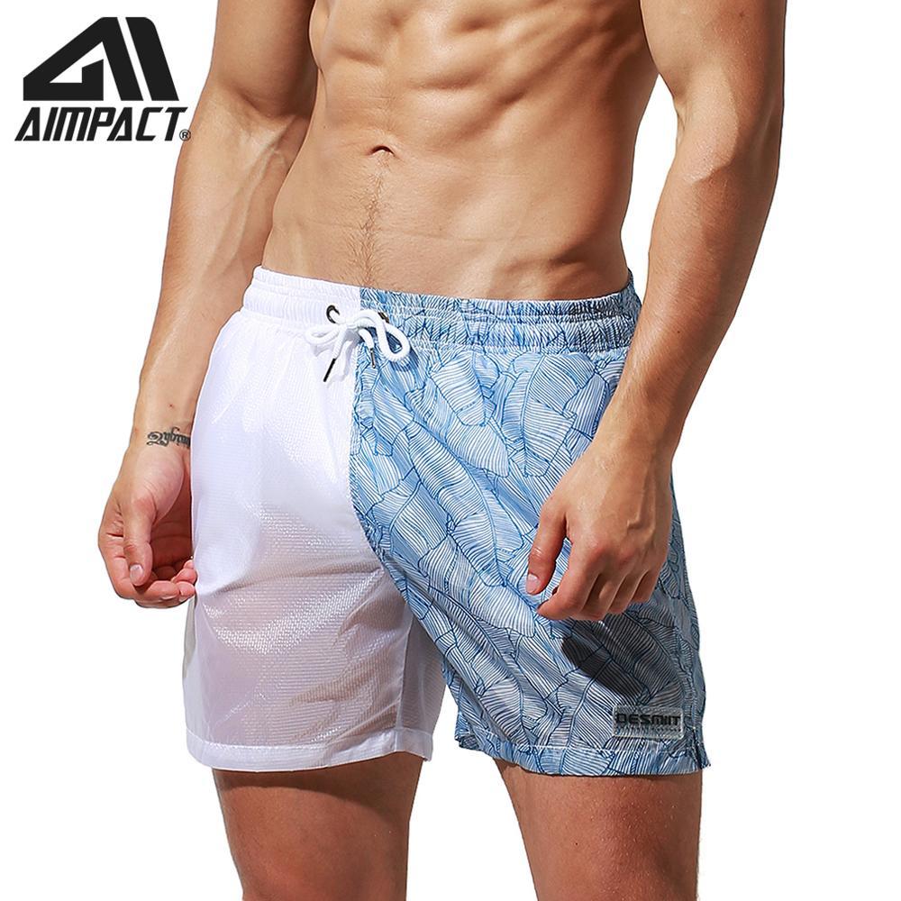 Desmiit Fast Dry Board Shorts For Men Light Weight Transparent Sexy Swim Trunks Holiday Surf Beachwear Waterwear Hybird DT94