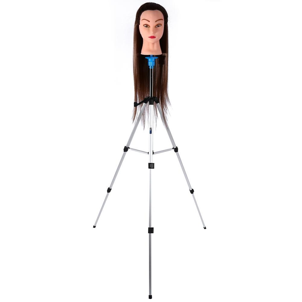 Pro Aluminum Adjustable Tripod wig stand Salon Hair Styling Accessories Cosmetology Mannequin head Training wig Head Hold Clamp steel mannequin tripod stand hair salon adjustable tripod wig stand hairdressing training head clamp holder