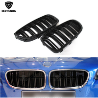 Dual Slats Front Grille For BMW 5 M Series F10 M5 Three Color M Look & Gloss black 2010 2011 2012 2013 2014 2015 2016