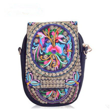New Fashion Embroidery Women Small bags!Hot Vintage Floral Embroidered Cute Lady shoulder&Crossbody bags Multi Handmade Carrier