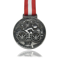 High quality 3D antique medal custom zinc alloy sports bicycle competition