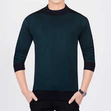 3 Colors High Quality Men Sweater Slim Round Neck Pullovers Casual Clothing Slim Fit Gentlenman Warm Thick Knitted Sweater