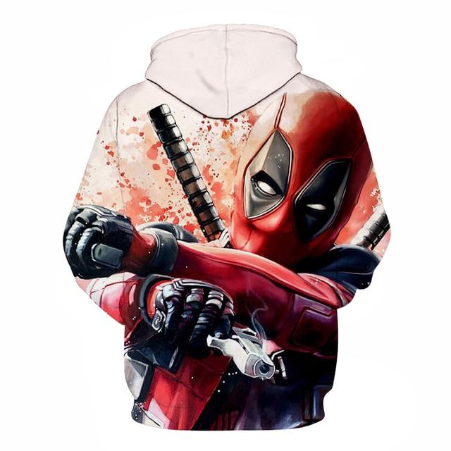 deadpool 2019 hoodie costume hood fashion plus size hoddie top for men women/male Men's Sweatshirts Hip Hop Sportswear 5