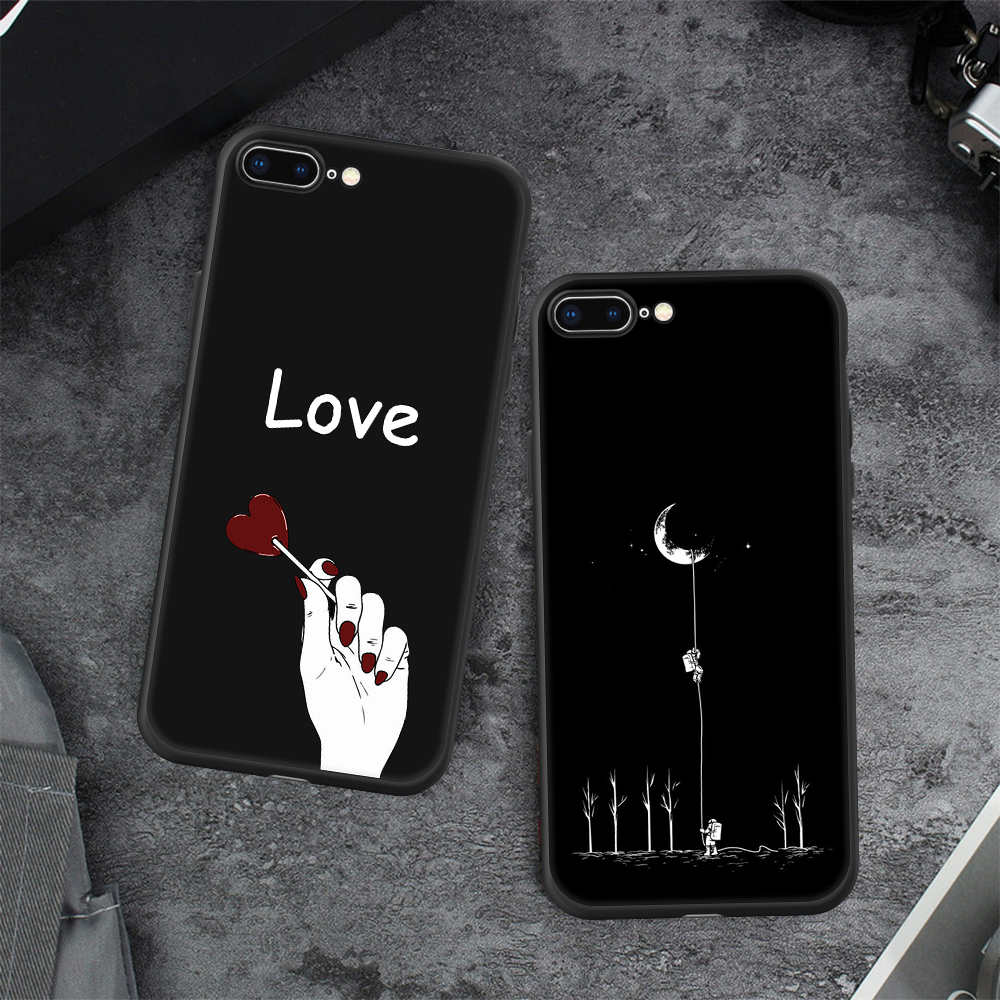 HTB1n6nSX6zuK1RjSsppq6xz0XXaL - Animal Love Heart Soft TPU Silicone Cases for iPhone 5 S SE X Phone Case For iPhone 6s 6 7 8 Plus XS Max XR Coque Frosted Fundas