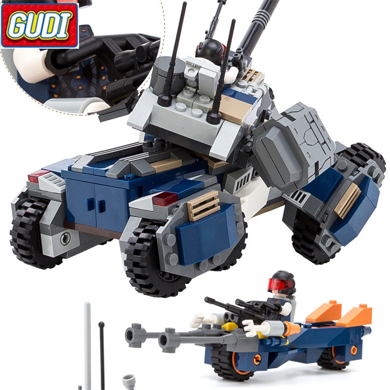 Model Building Gudi 185pcs Earth Border Fighter Action Battlefield Ghost Car Building Block Bricks Educational Toys For Children Christmas Gift Goods Of Every Description Are Available