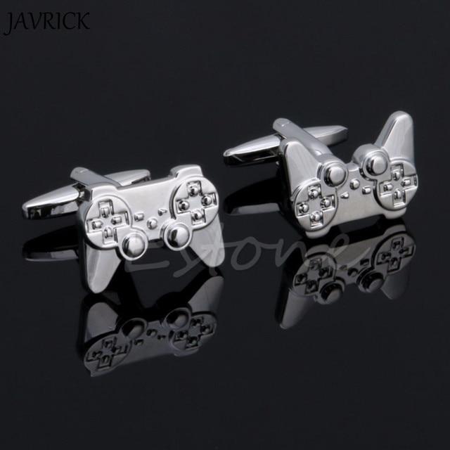 Javrick 1pair Men Stainless Steel Cufflink Silver Consoles Handle Cuff Links Wedding Party Gift Shirt