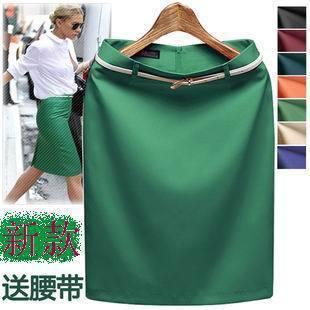 2017 Fashion New Summer-Autumn pencil skirt for woman bust work elegant women skirts Green,Orange,Beige,Black,blue,red S,M~3XXXL