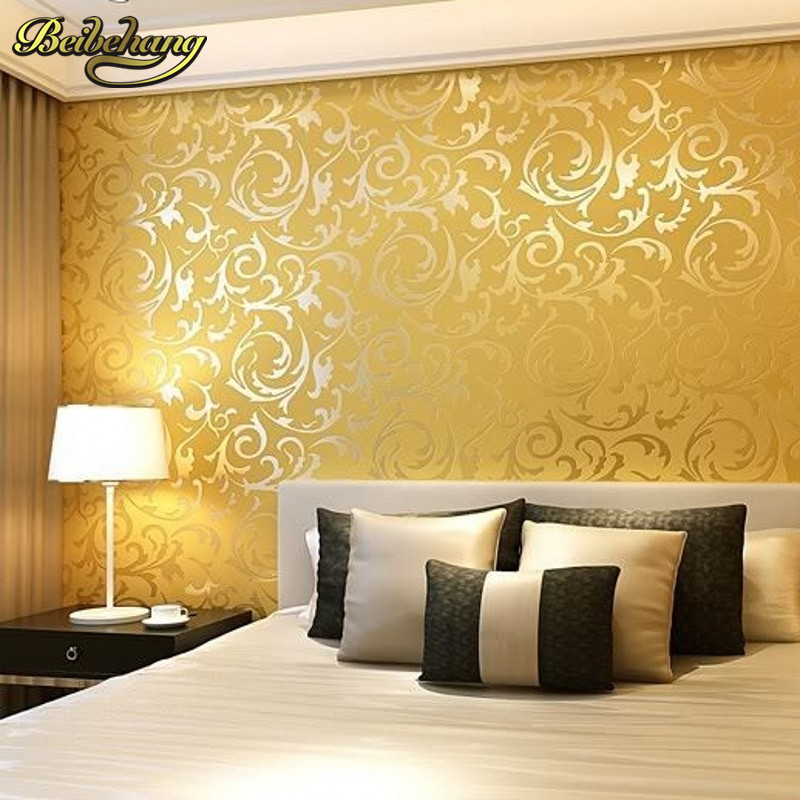 Beibehang italian 3d embossed tv background wallpaper for for Silver wallpaper living room