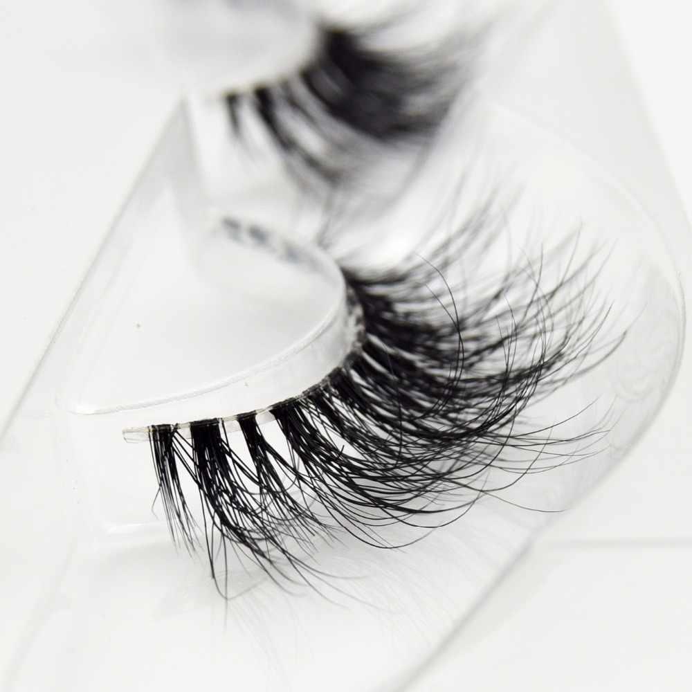 Накладные ресницы, невидимые объемные ресницы из норки, прозрачные ресницы ручной работы для макияжа, ресницы из норки