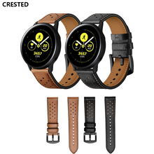 galaxy watch active for samsung 42mm gear s2 s4 band 20mm strap Universal Bracelet Genuine Leather