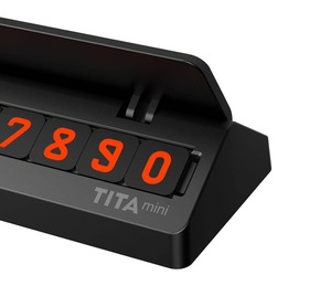 Image 4 - Hot Originele Youpin Tita Tijdelijke Stopbord Auto Parkeerkaart Nummer Multinationale Telefoonnummers Auto Accessoires