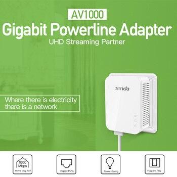 1PCS Tenda PH3 1000Mbps Ethernet Network Powerline Adapter, PLC Adapter,Full Gigabit Speed for UHD Steaming,  IPTV, Homeplug AV2