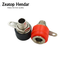 200pcs Nickel plating Amplifier Terminal 4mm Binding Post banana Plug socket jack Mount Red and Black
