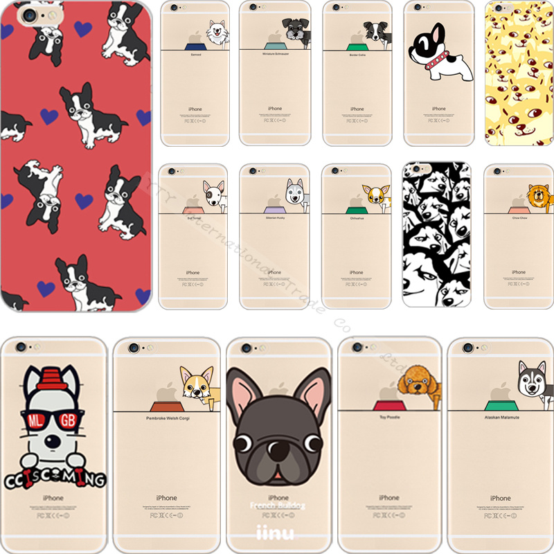 Multiple Design Painting Dogs Silicon Phone Cover Case For Apple iPhone 5 5S iPhone5 iPhone5S Cases Shell IFP FPIM FUX UXH