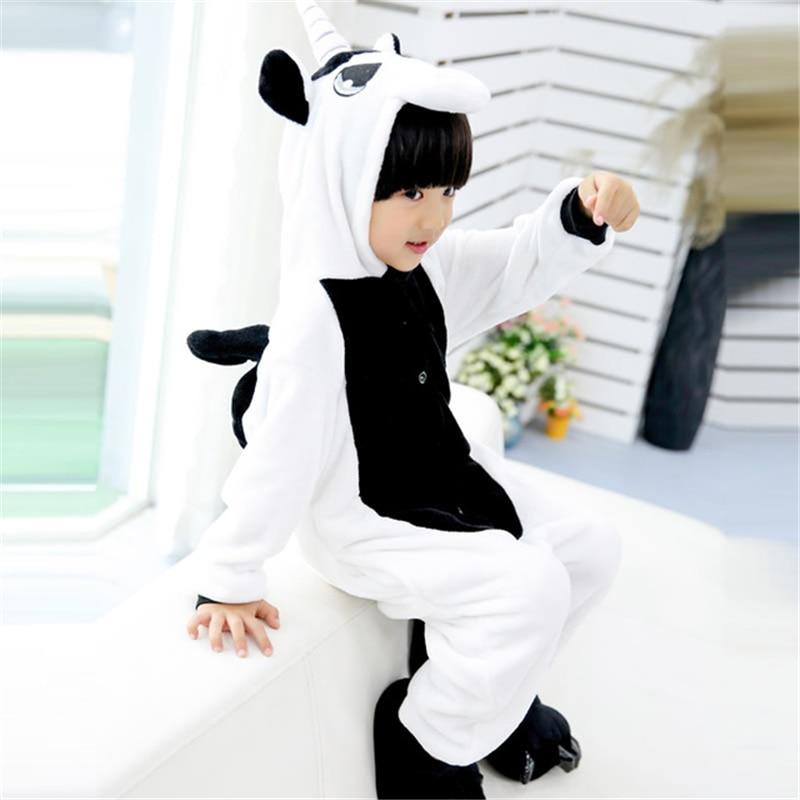 winter girl boy childrens pajamas baby onesie kids pajama set animal cartoon sleepwear stitch panda pink unicorn hooded cosplay