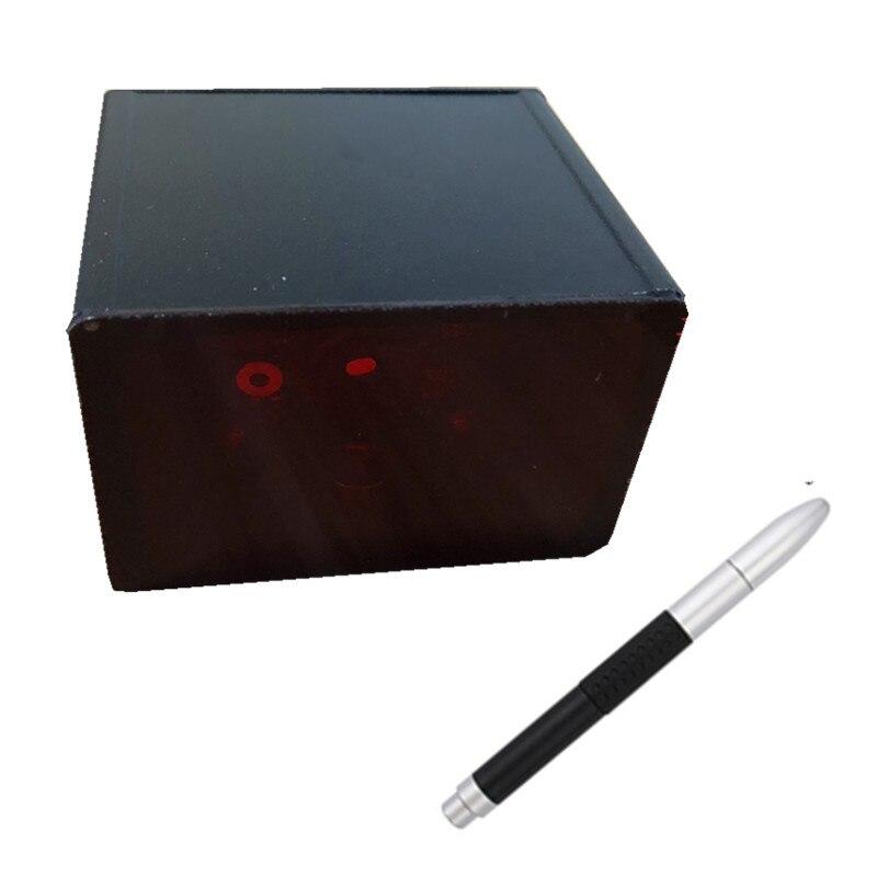 Óptico infrarrojo mágico electrónico interactivo pizarra compatible con pantalla de proyección tamaño 40-150 pulgadas con una pluma IR